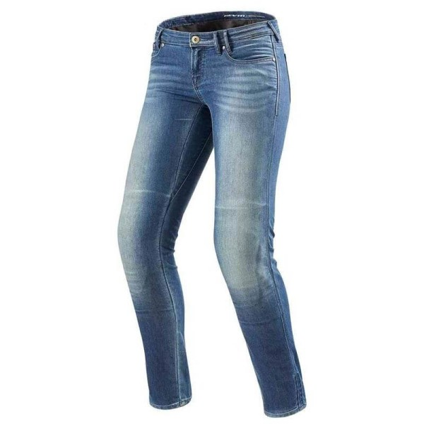 Jeans Moto REVIT Westwood Donna Blu Used, Jeans Moto