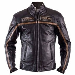 Leather motorcycle jacket Helstons Daytona Rag black ,Leather Motorcycle Jackets
