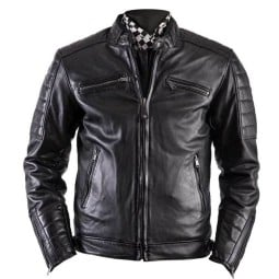 Leather motorcycle jacket Helstons Cruiser Rag black ,Leather Motorcycle Jackets