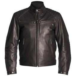 Leather motorcycle jacket Helstons Rocket brown ,Leather Motorcycle Jackets