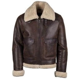 Leather motorcycle jacket Helstons Thunder brown ,Leather Motorcycle Jackets