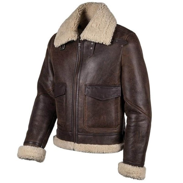 Leather motorcycle jacket Helstons Thunder brown