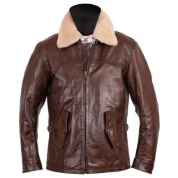 Leather motorcycle jacket Helstons Mustang brown ,Leather Motorcycle Jackets