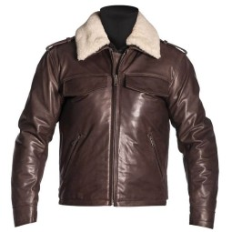 Leather motorcycle jacket Helstons Tribe brown ,Leather Motorcycle Jackets