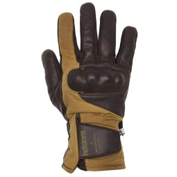 Leather motorcycle gloves Helstons Curtis black oak ,Motorcycle Leather Gloves