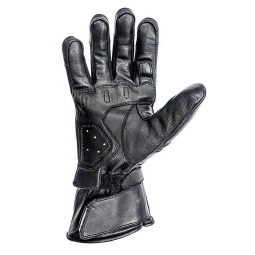 Leather motorcycle gloves Helstons Titanium black ,Motorcycle Leather Gloves