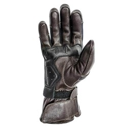Leather motorcycle gloves Helstons Titanium brown ,Motorcycle Leather Gloves