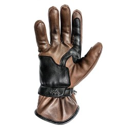 Leather motorcycle gloves Helstons Rider brown ,Motorcycle Leather Gloves