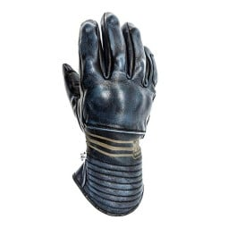Leather motorcycle gloves Helstons Rider blue ,Motorcycle Leather Gloves