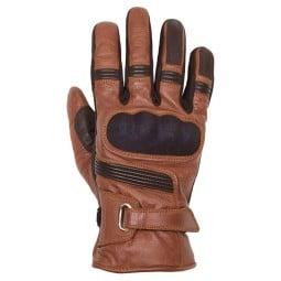 Leather motorcycle gloves Helstons Vertigo camel black