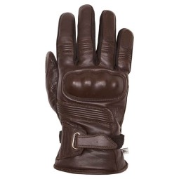 Leather motorcycle gloves Helstons Vertigo brown