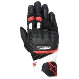 Guanti moto Alpinestars SP-5 nero rosso, Guanti Moto Pelle