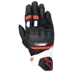 Motorcycle gloves Alpinestars SP-5 black red ,Motorcycle Leather Gloves