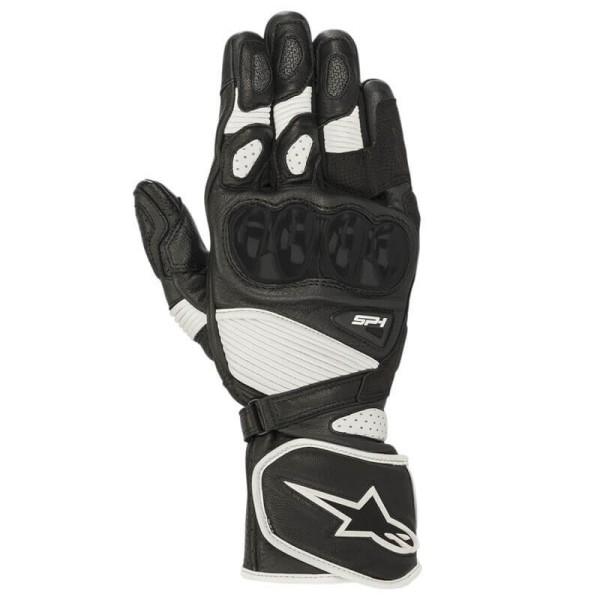 Motorcycle gloves Alpinestars SP-1 V2 black white