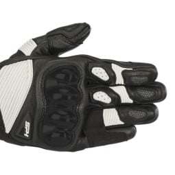 Guanti moto Alpinestars SP-1 V2 nero bianco, Guanti Moto Pelle