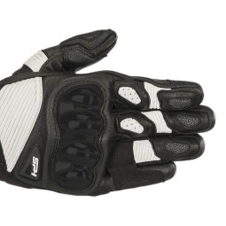 Motorcycle gloves Alpinestars SP-1 V2 black white ,Motorcycle Leather Gloves