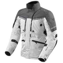 Motorcycle Jacket Rev'it Poseidon 2 GTX silver ,Motorcycle Textile Jackets