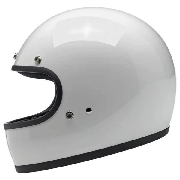 Casco de moto vintage Biltwell Gringo gloss white