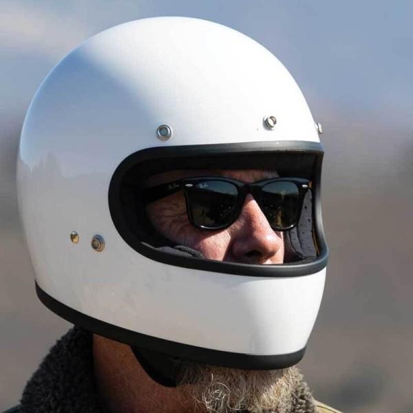 Casque moto retrò Biltwell Gringo gloss white