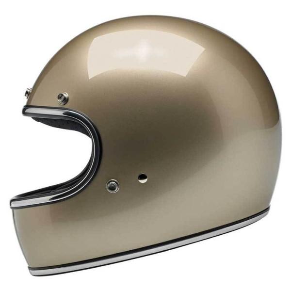 Casco de moto vintage Biltwell Gringo metallic champagne