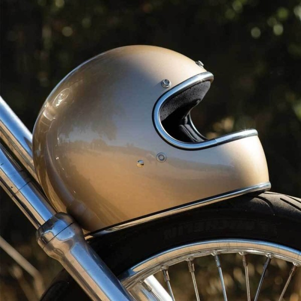 Casque moto retrò Biltwell Gringo metallic champagne