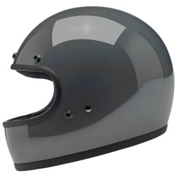 Motorcycle helmets Biltwell Gringo gloss storm grey ,Vintage Helmets