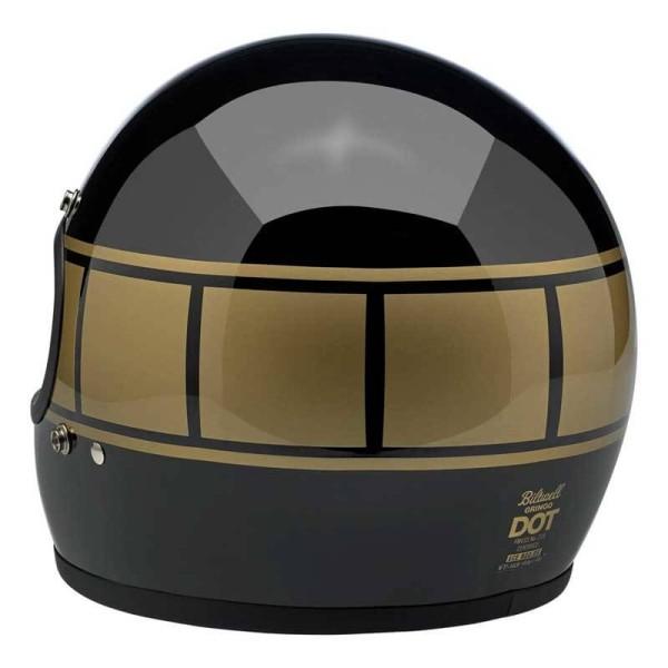 Motorrad helm Biltwell Gringo gloss black holeshot