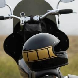 Motorcycle helmets Biltwell Gringo gloss black holeshot ,Vintage Helmets