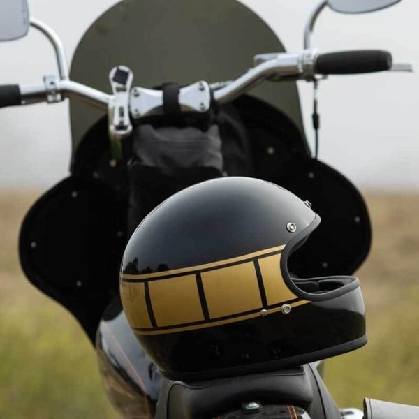 Casque moto retrò Biltwell Gringo gloss black holeshot