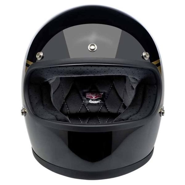 Casco de moto vintage Biltwell Gringo gloss black holeshot