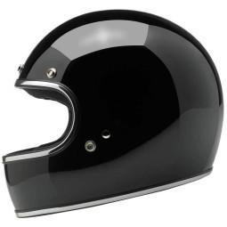 Motorcycle helmets Biltwell Gringo gloss black ,Vintage Helmets