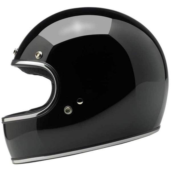 Motorcycle helmets Biltwell Gringo gloss black, Vintage Helmets