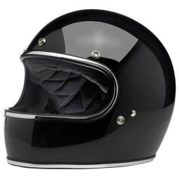 Motorrad helm Biltwell Gringo gloss black ,Vintage Helme