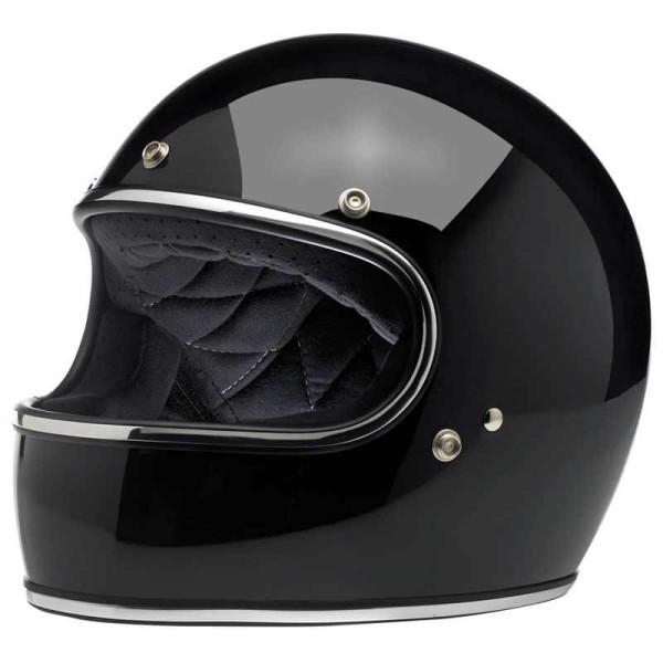 Casco de moto vintage Biltwell Gringo gloss black