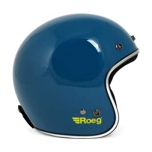 Motorcycle jet helmet ROEG Moto JETT blue gloss
