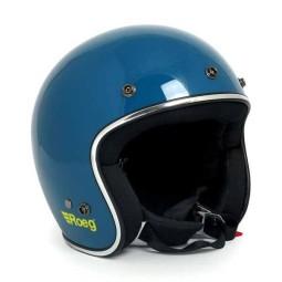 Casco jet de moto ROEG Moto JETT blue gloss