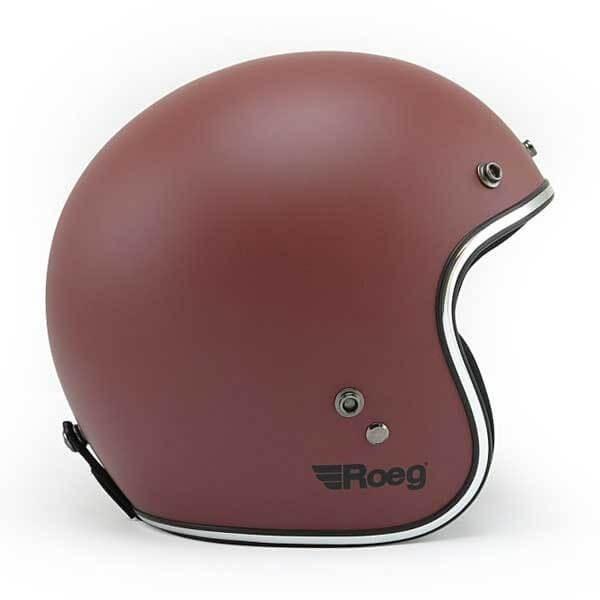 Motorcycle jet helmet ROEG Moto JETT Oxide Red Matte ,Jet Helmets