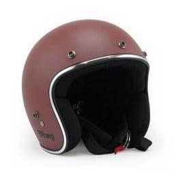 Motorcycle jet helmet ROEG Moto JETT Oxide Red Matte