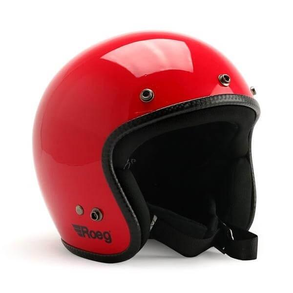 Casco jet de moto ROEG Moto JETT Flaming Red gloss