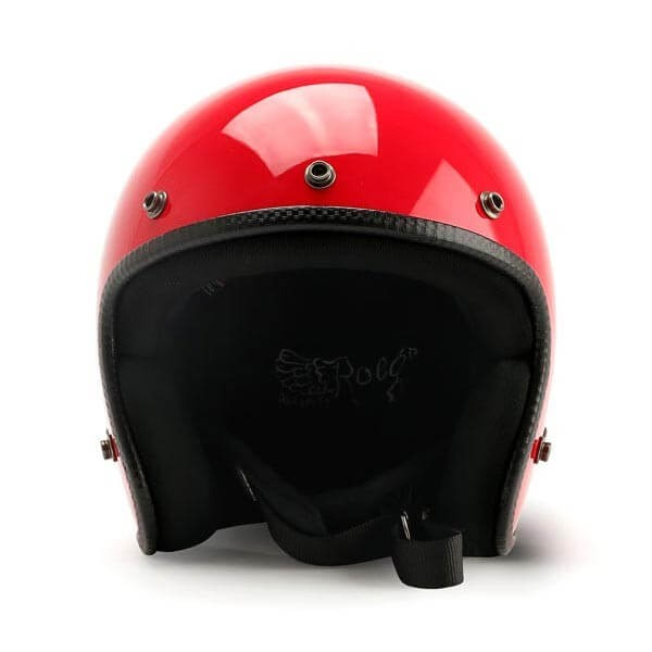 Motorcycle jet helmet ROEG Moto JETT Flaming Red gloss