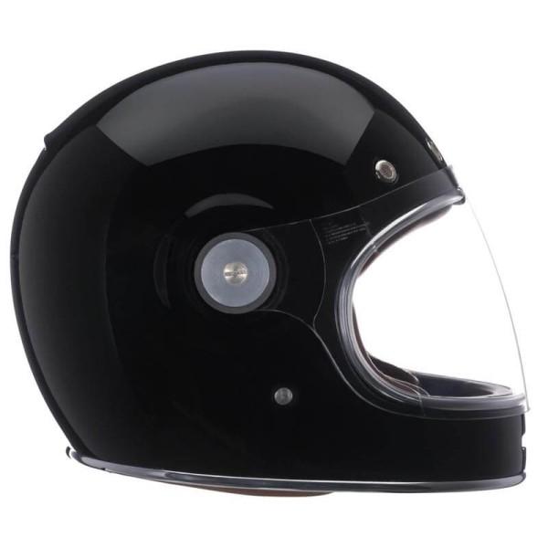 casque moto vintage bell helmets bullitt solid black taille m. Black Bedroom Furniture Sets. Home Design Ideas