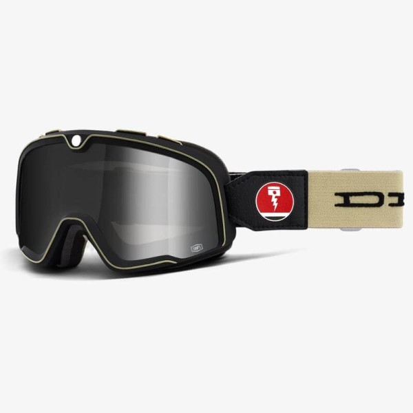 Goggle Glasses ROEG Striped Peruna Black Biker Motorcycle