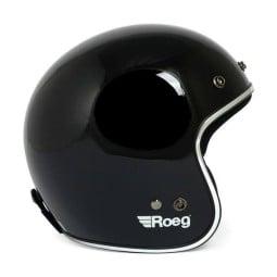 Motorcycle jet helmet ROEG Moto JETT gloss black ,Jet Helmets
