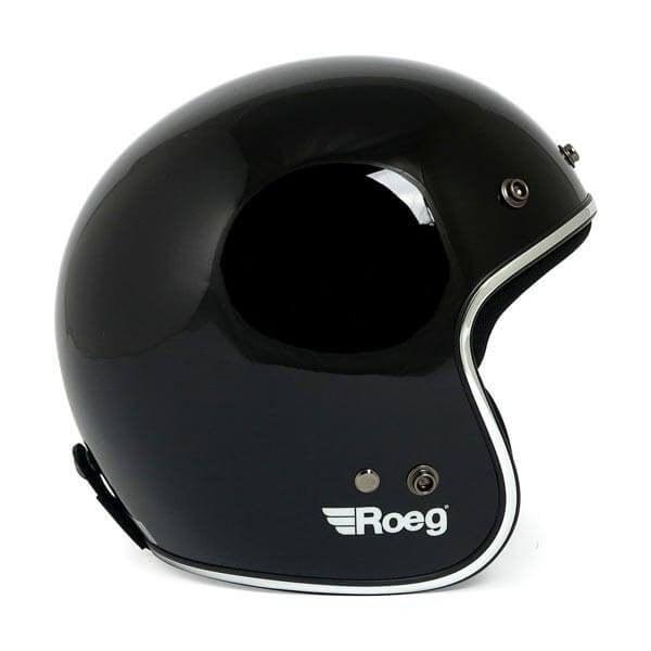 Casco jet de moto ROEG Moto JETT gloss black