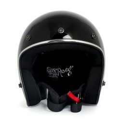 Casco jet de moto ROEG Moto JETT gloss black ,Cascos Jet