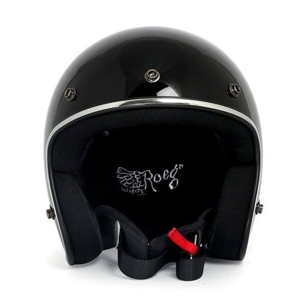 Motorcycle jet helmet ROEG Moto JETT gloss black