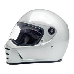 Motorcycle helmets Biltwell Lane Splitter metallic pearl white ,Vintage Helmets
