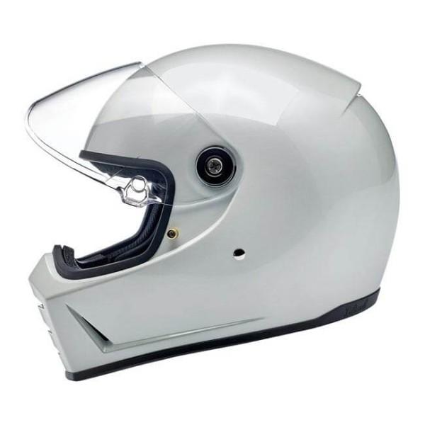 Motorrad helm Biltwell Lane Splitter metallic pearl white
