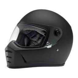Motorrad helm Biltwell Lane Splitter flat black ,Vintage Helme