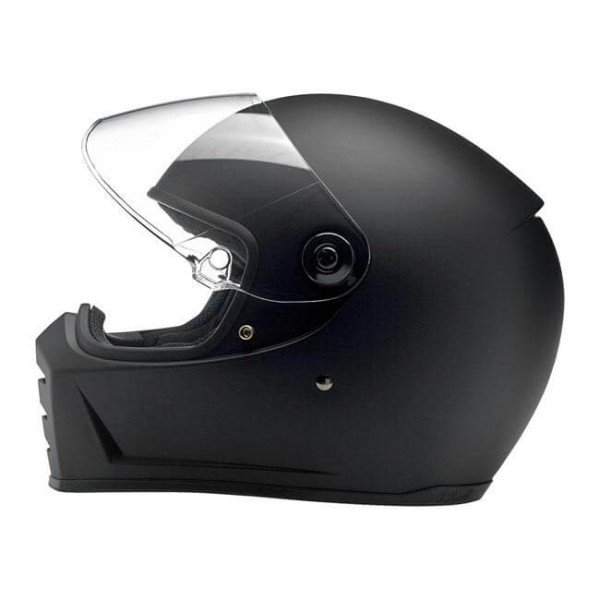 Motorrad helm Biltwell Lane Splitter flat black